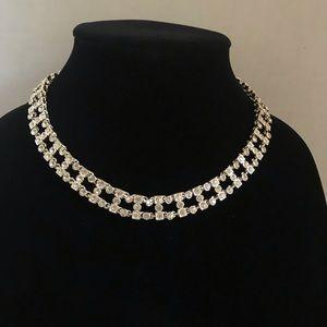 LC Lauren Conrad Rhinestone choker necklace